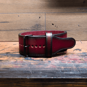 a laser engraved powerlifting belt