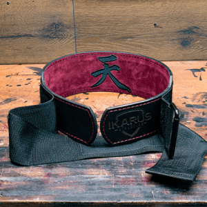 a velcro weightlifting belt
